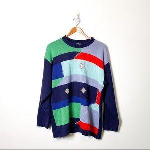 Vintage Italian Abstract Oversized Knit Sweater